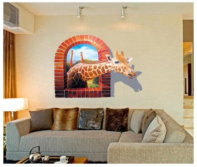 wandgestaltung wohnzimmer ideen 3d wandkunst