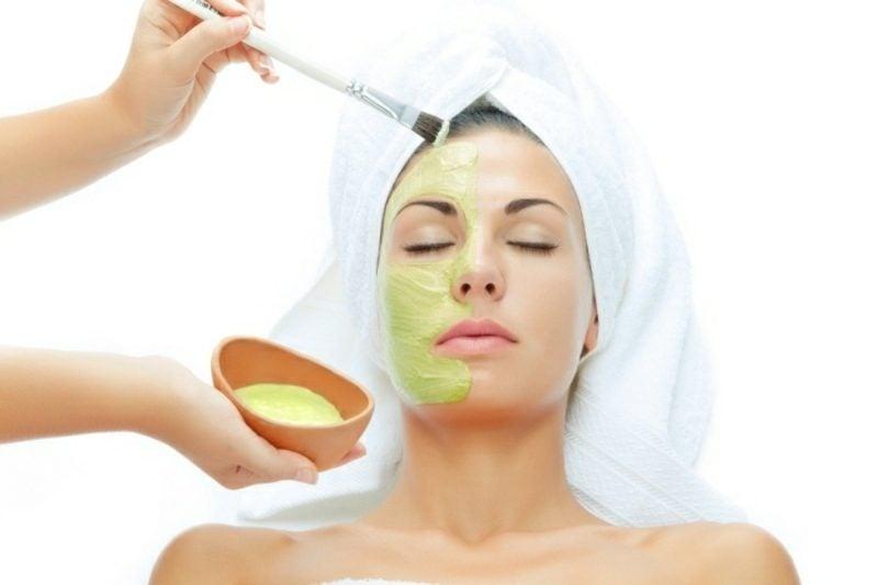 Gesichtsmaske selber machen Rezept mit Aloe Vera