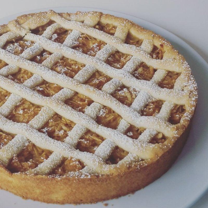 Kuchen ohne Zucker Apfelkuchen gedeckt herrlicher Look