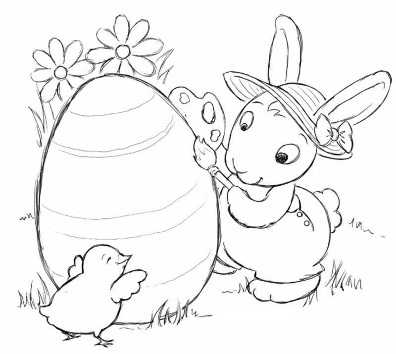 frohe Ostern Bilder Osterhase mit grossem Ei