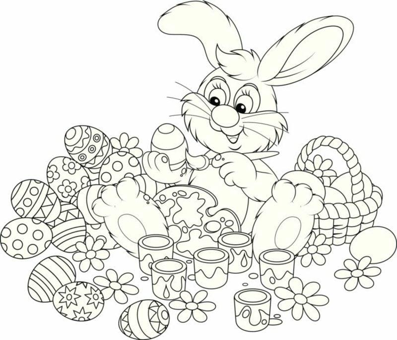 frohe Ostern Bilder Osterhase mit Eier