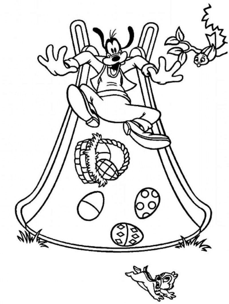 frohe Ostern Bilder Disney Helden Goofy Ostereier