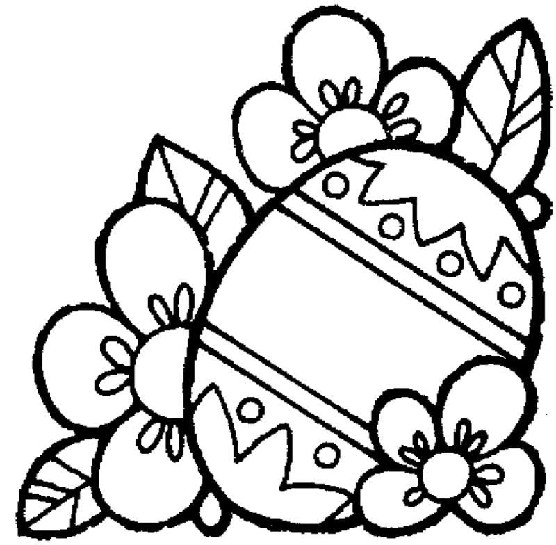 frohe Ostern Bilder Osterei mit Blumen