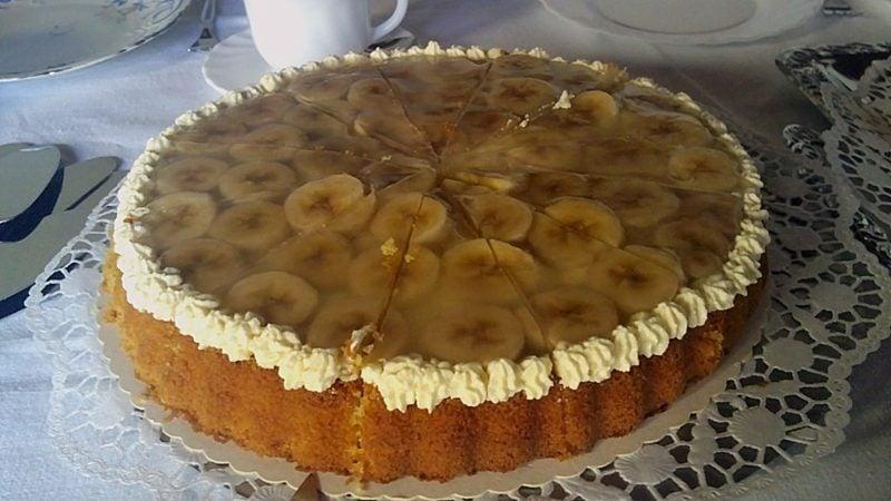 zuckerfreier Kuchen Bananen Sahne