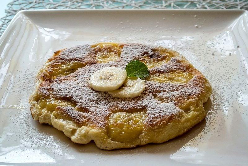 Pfannkuchen ohne Milch zuckerarm Bananen