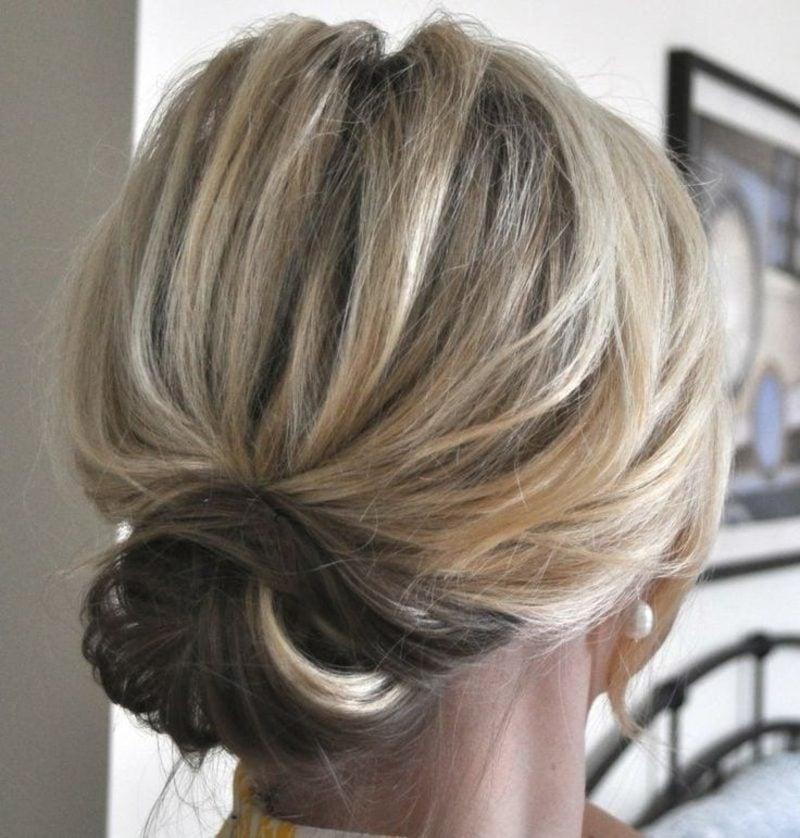 Brautjungfern Frisuren einfacher Dutt