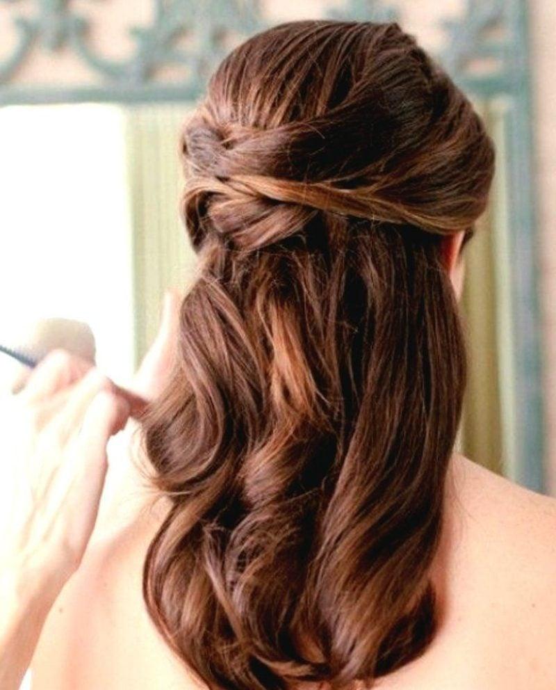 Hochzeitsfrisuren Brautjungfern wellige Haare