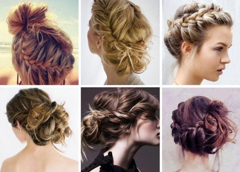 Frisuren für Hochzeit Brautjungfern Ideen für Flechtfrisuren