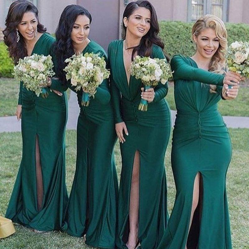 elegante und einfache Hochzeitsfrisuren Brautjungfern Lockenfrisur