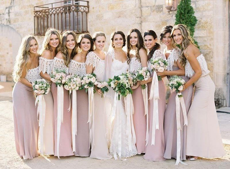 einfache Hochzeitfrisuren Brautjungfern Lockenfrisur