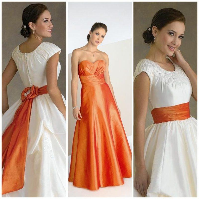 Brautkleid Apricot Farbe zwei Visionen