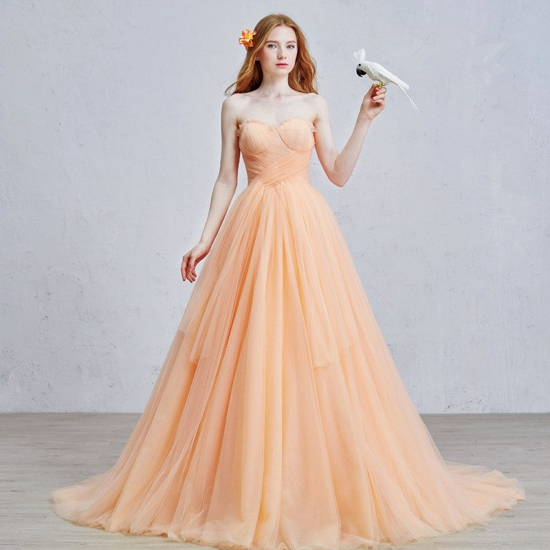 Brautkleid in Apricot Farbe Vintage Look