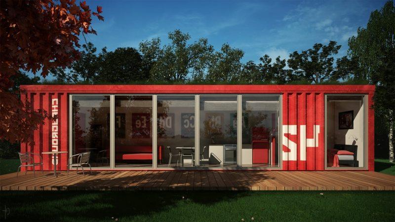 Häuser moderne Architektur Containerhaus