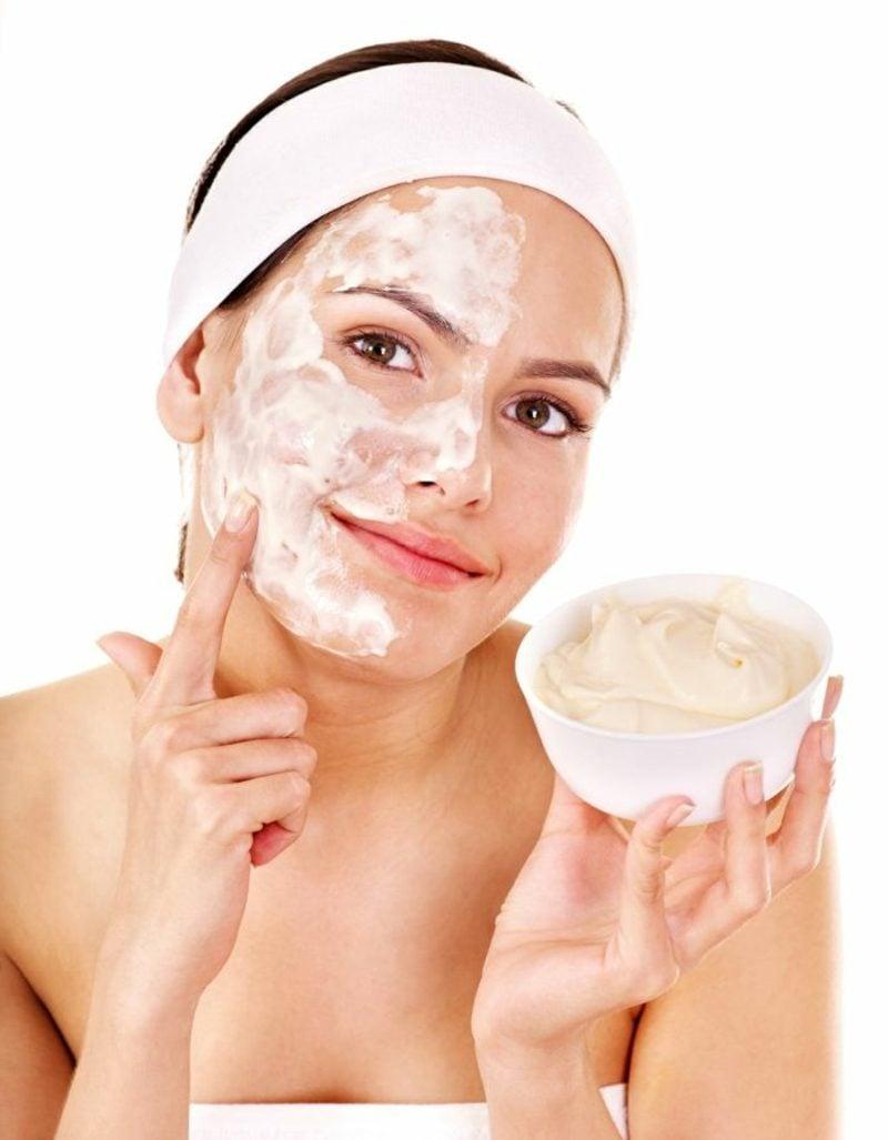 Gesichtsmaske selber machen Quark und Zitronensaft