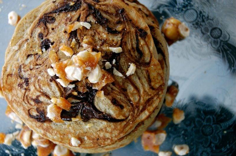 Pfannkuchen ohne Milch Rezept mit Haselnüssen und Sprudelwasser