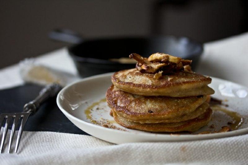 Pfannkuchen ohne Milch Rezept mit Schokolade und Haselnüssen