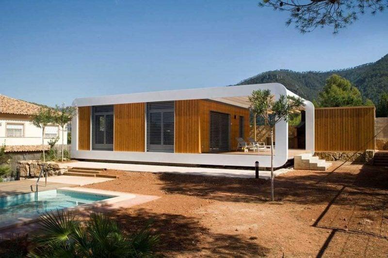 moderne Häuser Fertighaus Holz
