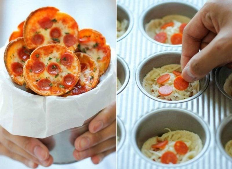 leckere Party Häppchen mit Spaghetti zubereiten