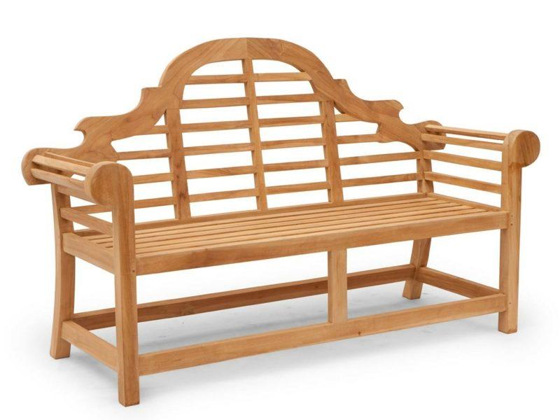 Gartenbank aus Holz klassisch Retro Look