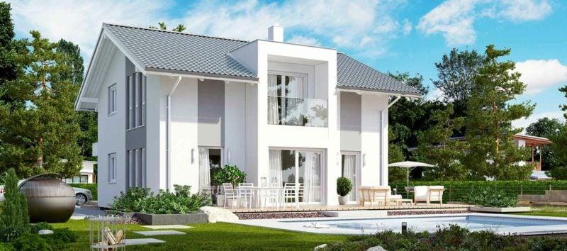 moderne Häuser Architektenhaus herrliche Fassade Pool