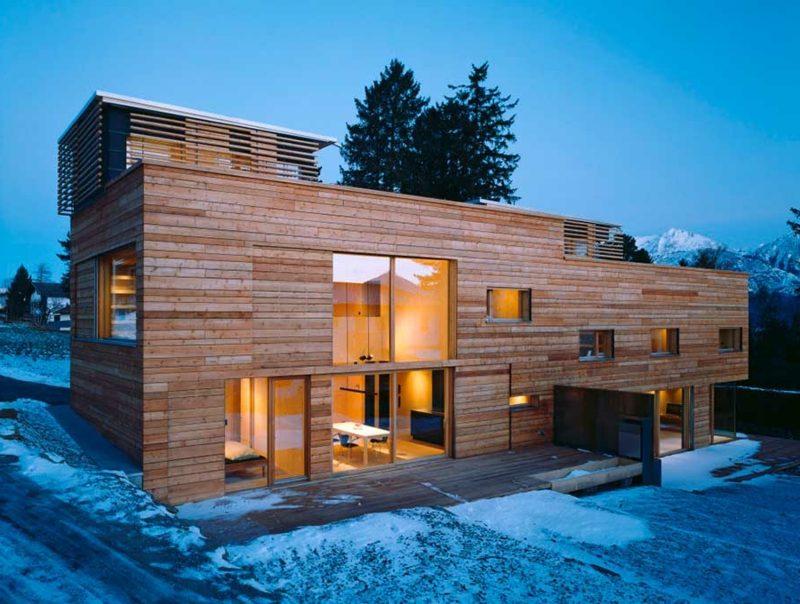 Traumhäuser Passivhaus Fassade aus Holz
