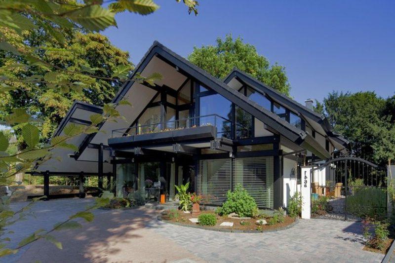 Traumhäuser Passivhaus ultramodern Glasfassade