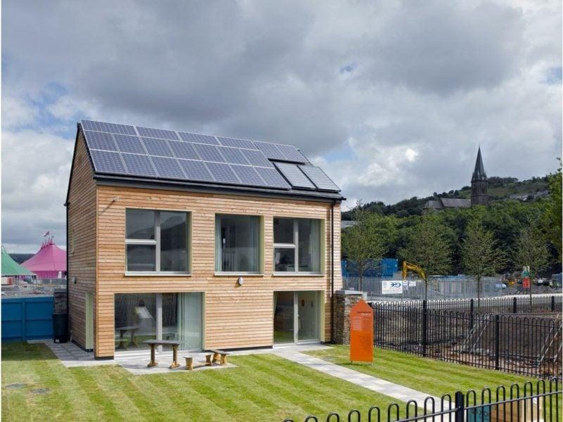 moderne Häuser umweltfreundlich Passivhaushaus