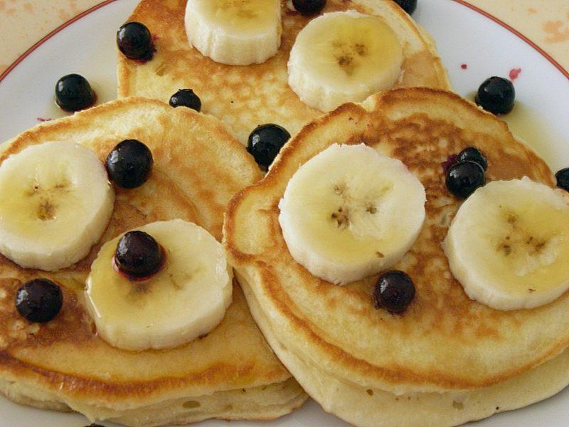 Pfannkuchen ohne Milch aus drei Zutaten Bananen