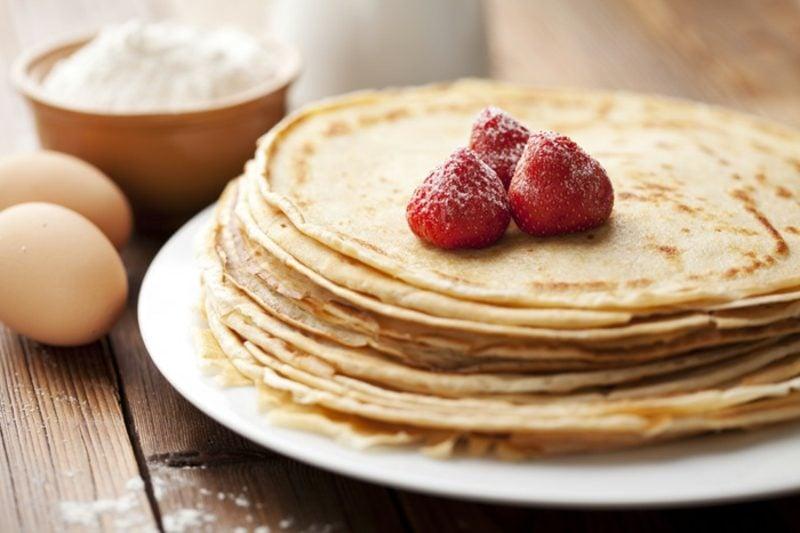 Pfannkuchen ohne Ei und Milch gesund kalorienarm
