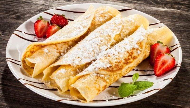 Pfannkuchen Rezept ohne Milch gesund und kalorienarm