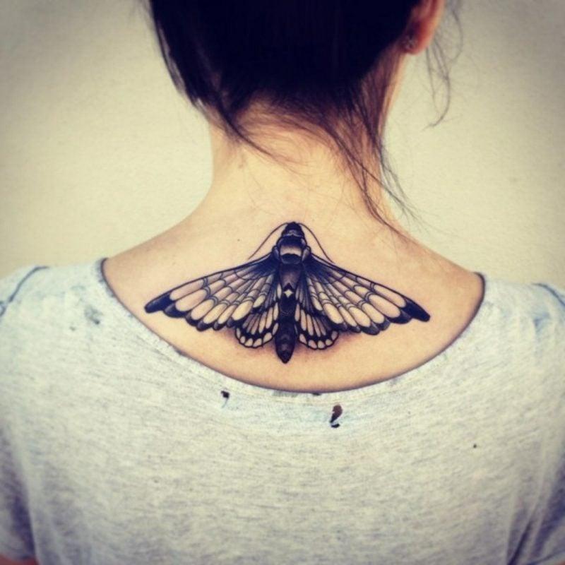 Tattoo Schmetterling Rücken Nachtfalter