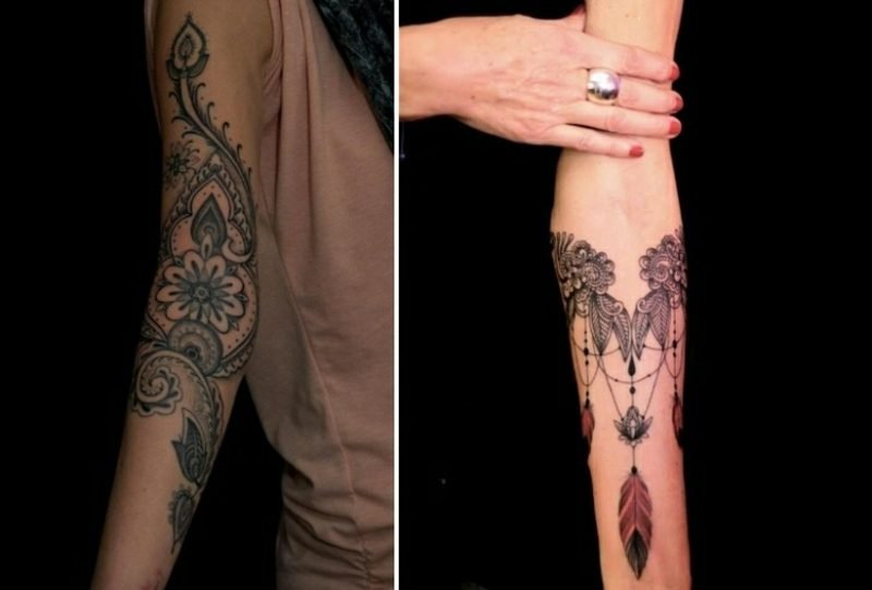 Tattoo auf Unterarm originelle Ideen Frauen