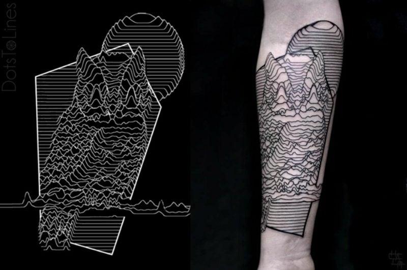 Tattoo auf Unterarm Mann Eule realistische Darstellung 3D-Effekt