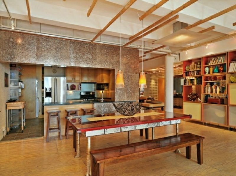 Wohnzimmer gestalten Ideen und Inspirationen industrieller Stil