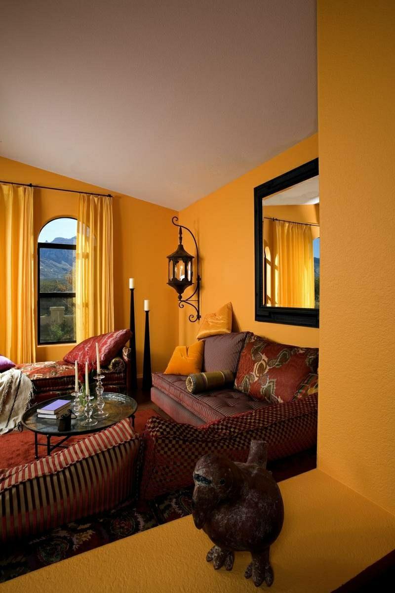 Wohnzimmer gestalten marokkanischer Stil