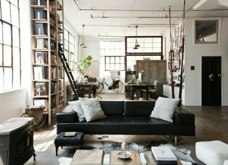 Wohnzimmer Gestalten Elegantes Interieur Im Industriestil