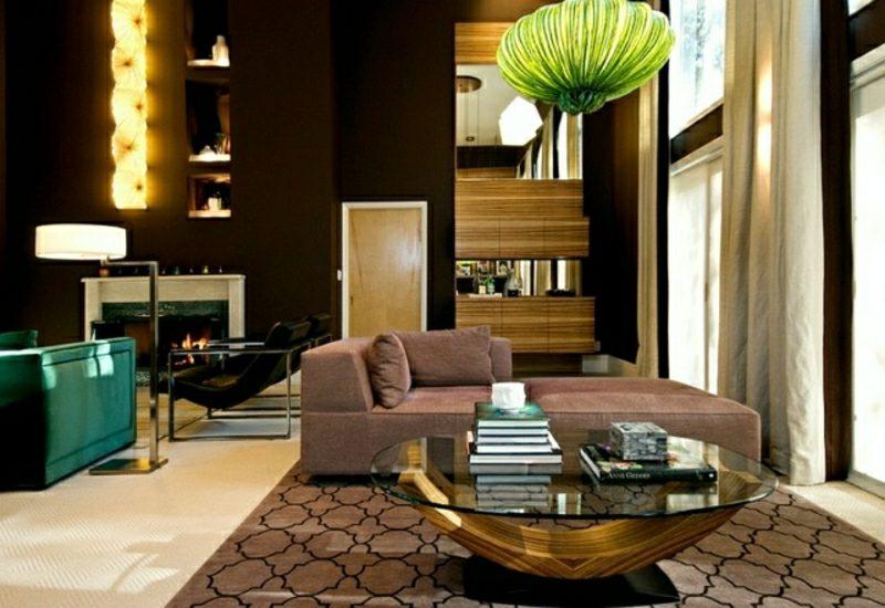 Wohnzimmer Gestalten Gelungene Kombination Marokkanischer Stil Moderne  Einrichtung