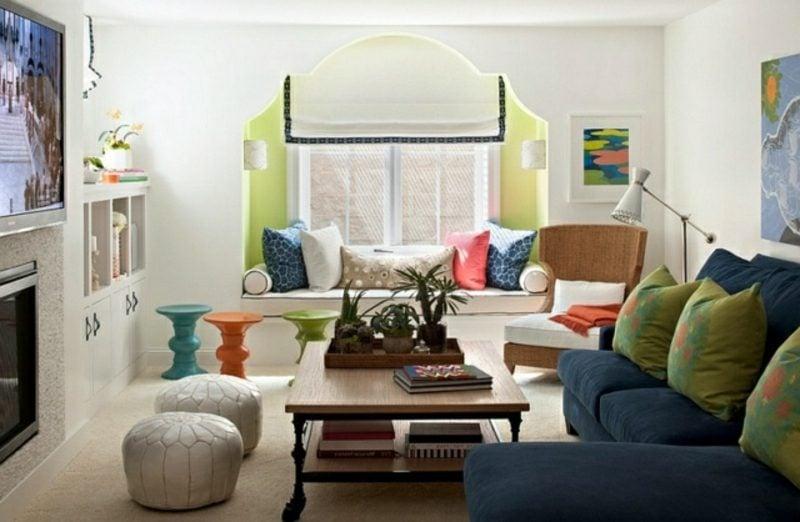Wohnzimmer gestalten modernes Design Akzente im marokkanischen Stil