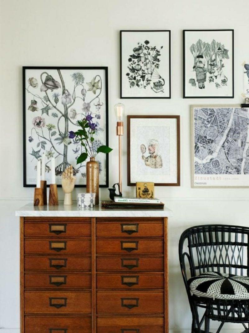 Wohnzimmer gestalten skandinavischer Stil Dekoelemente Bilder