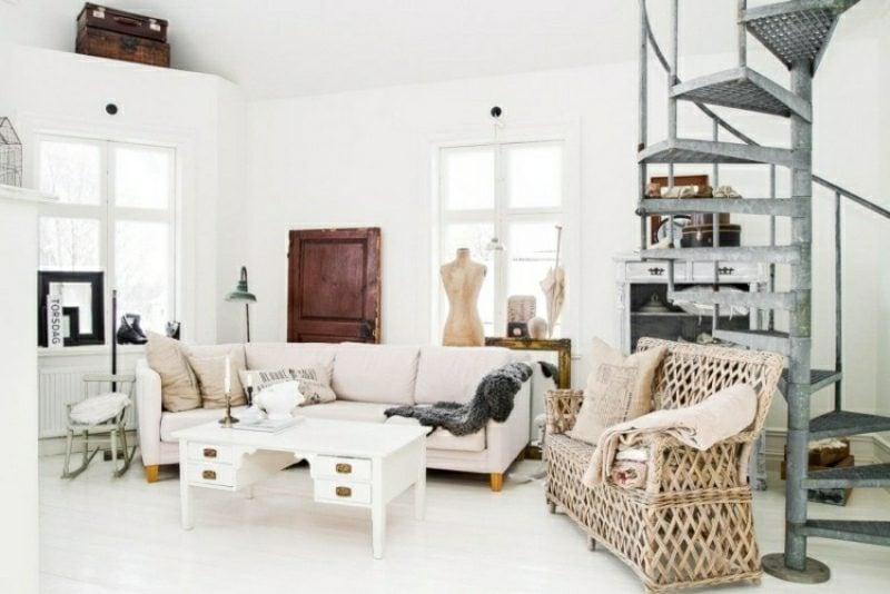 Wohnzimmer gestalten neutrale Farben skandinavischer Einrichtungsstil