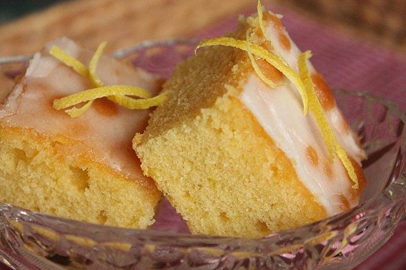 zuckerfreier Kuchen mit Zitronen gesind