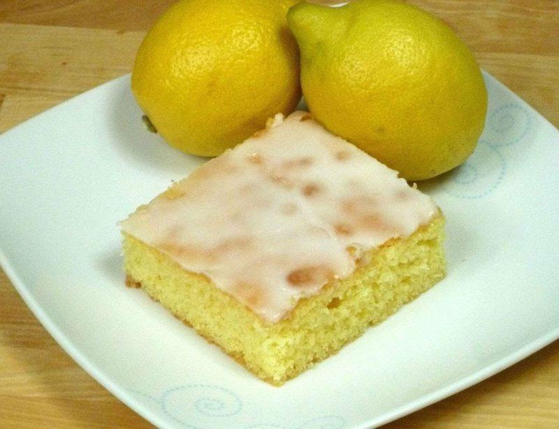 backen ohne Zucker Zitronenkuchen herrlicher Look