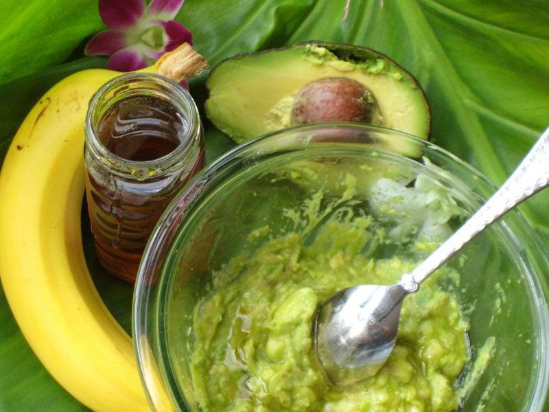 Das Rezept für Haarmaske mit Avocado und Bananen