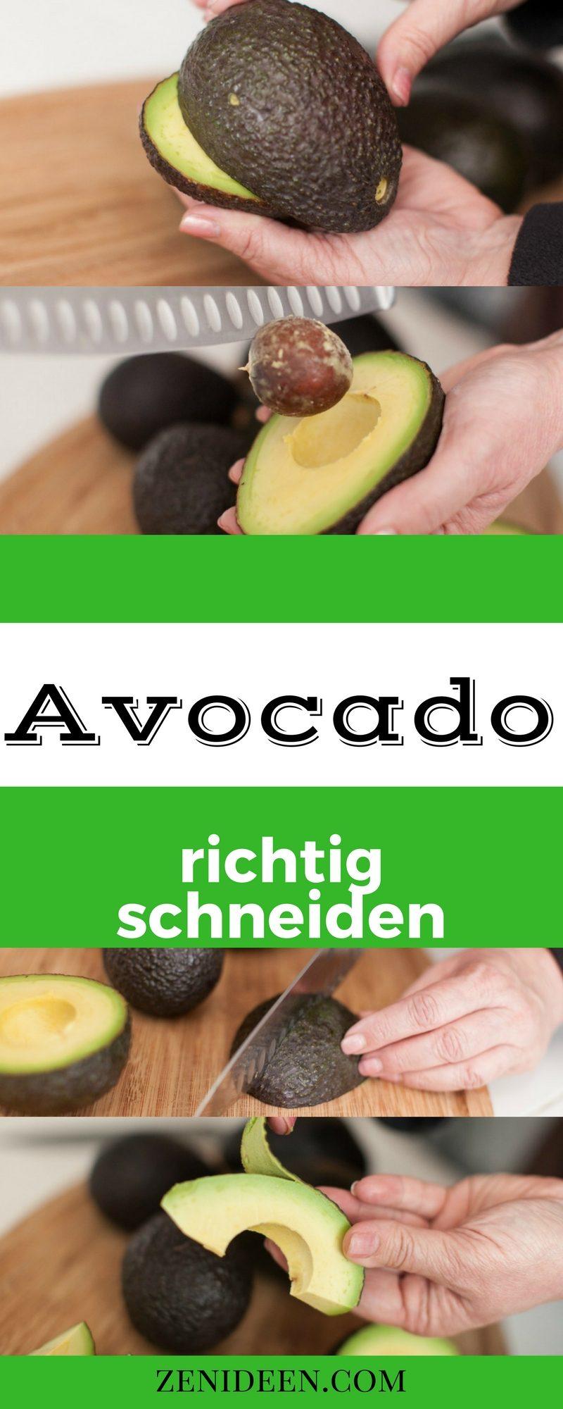 Avocado richtig schneiden und verteilen