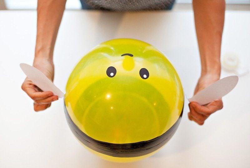 Einfache Bastelideen mit Ballons - Bomble Bee
