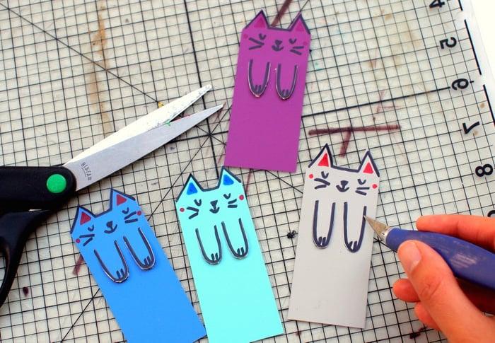 Bastelideen für Kinder: lustigen Lesezeichen selber machen - DIY Anleitung