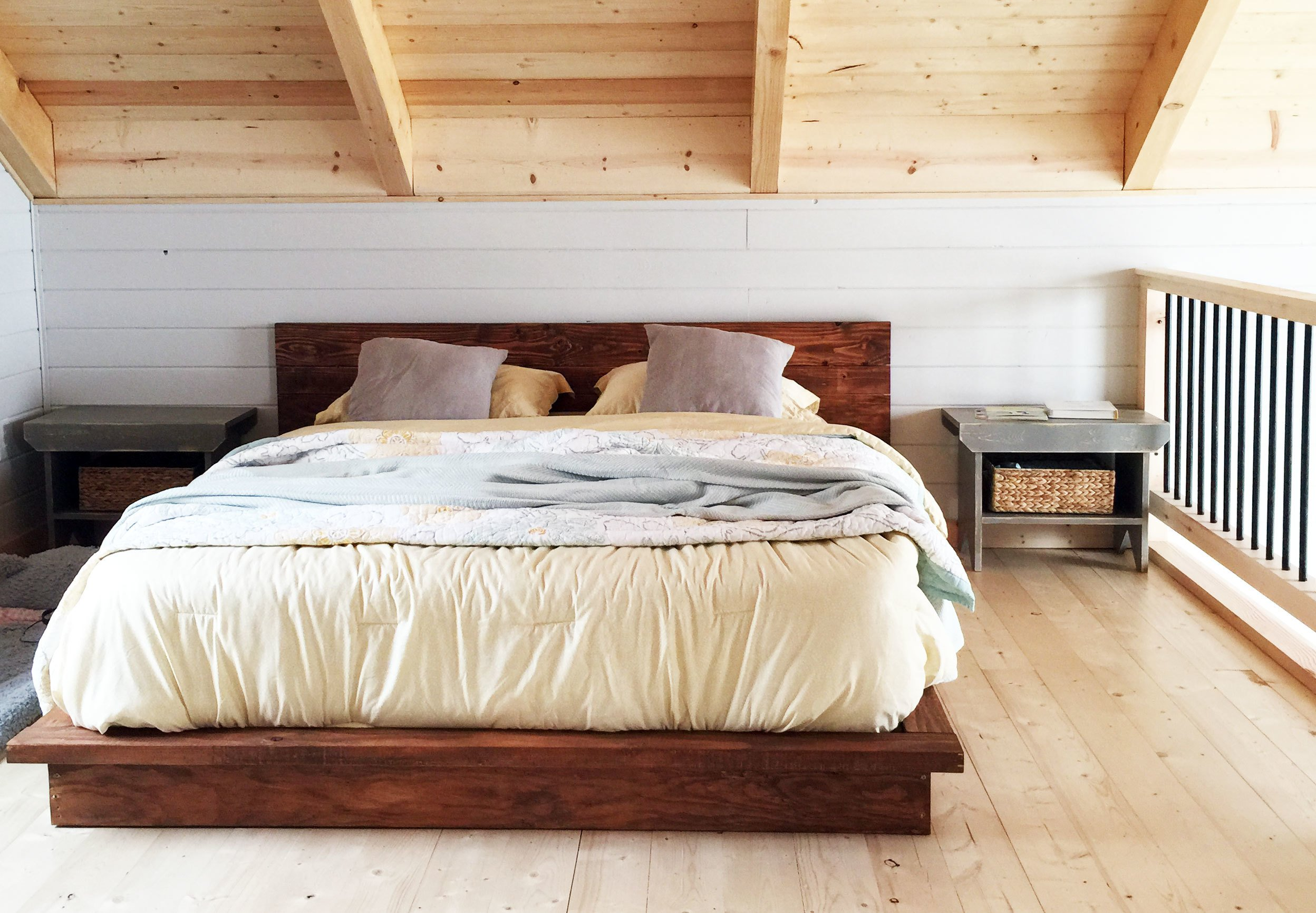 Wooden Sunken Bed Frame