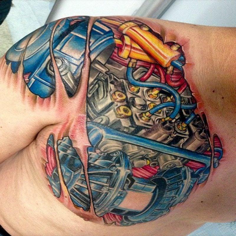 biomechanik tattoo wade