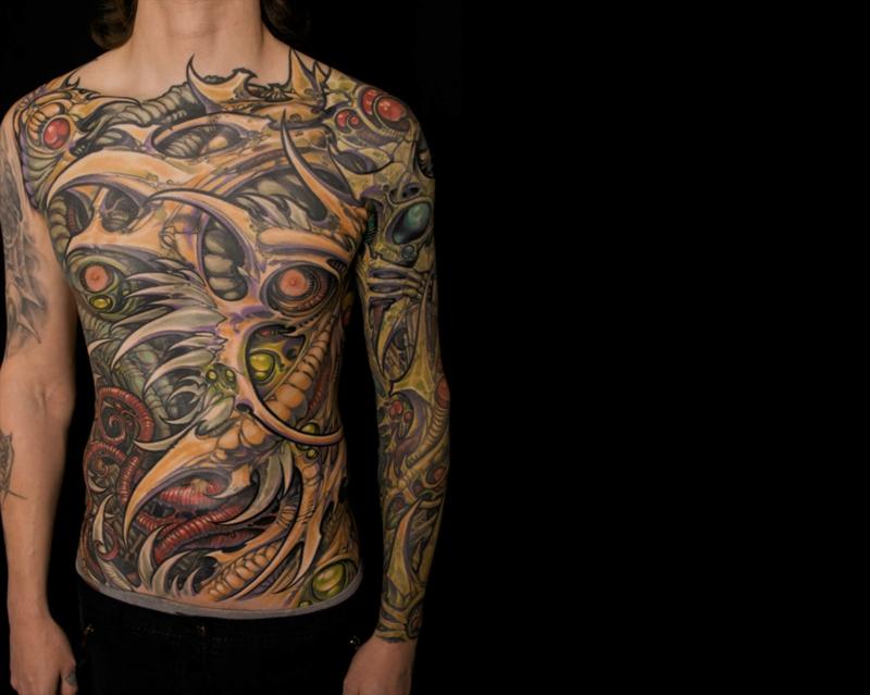 biomechanik tattoo menschen und maschinen tattoos. Black Bedroom Furniture Sets. Home Design Ideas