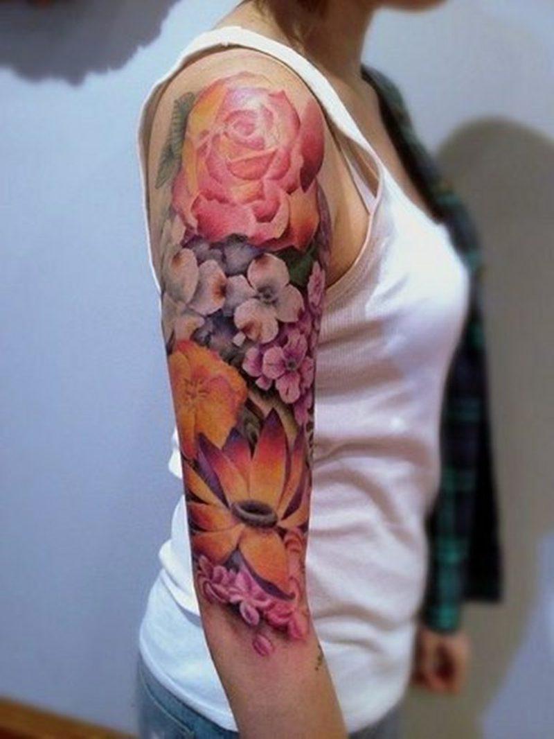 100 herrliche blumen tattoo entw rfe f r ihre eigene inspiration tattoos zenideen. Black Bedroom Furniture Sets. Home Design Ideas